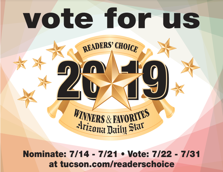 2019 Reader's Choice <br> Vote For Us!