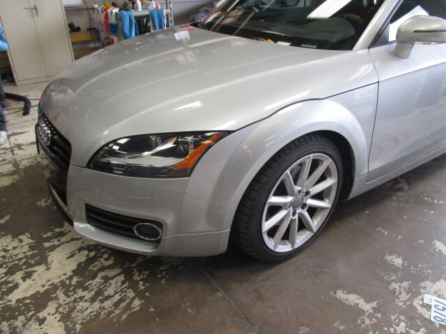 audi tt after body repair
