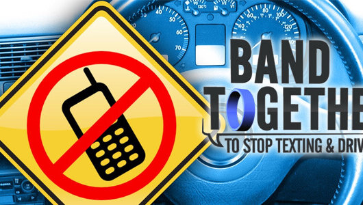 band togehter to stop texting and driving