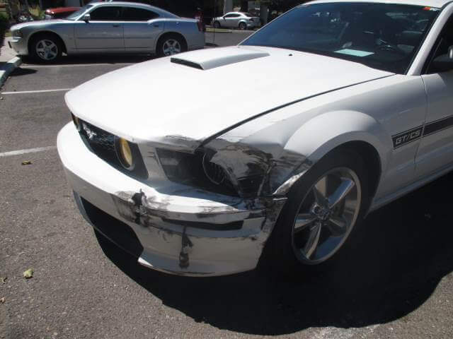 ford mustang before body repair