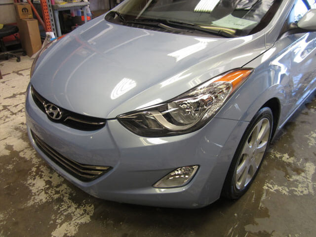 hyundai elantra after body repair