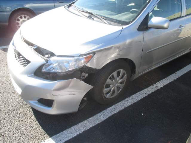 toyota corolla before body repair