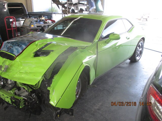dodge challenger before body repair
