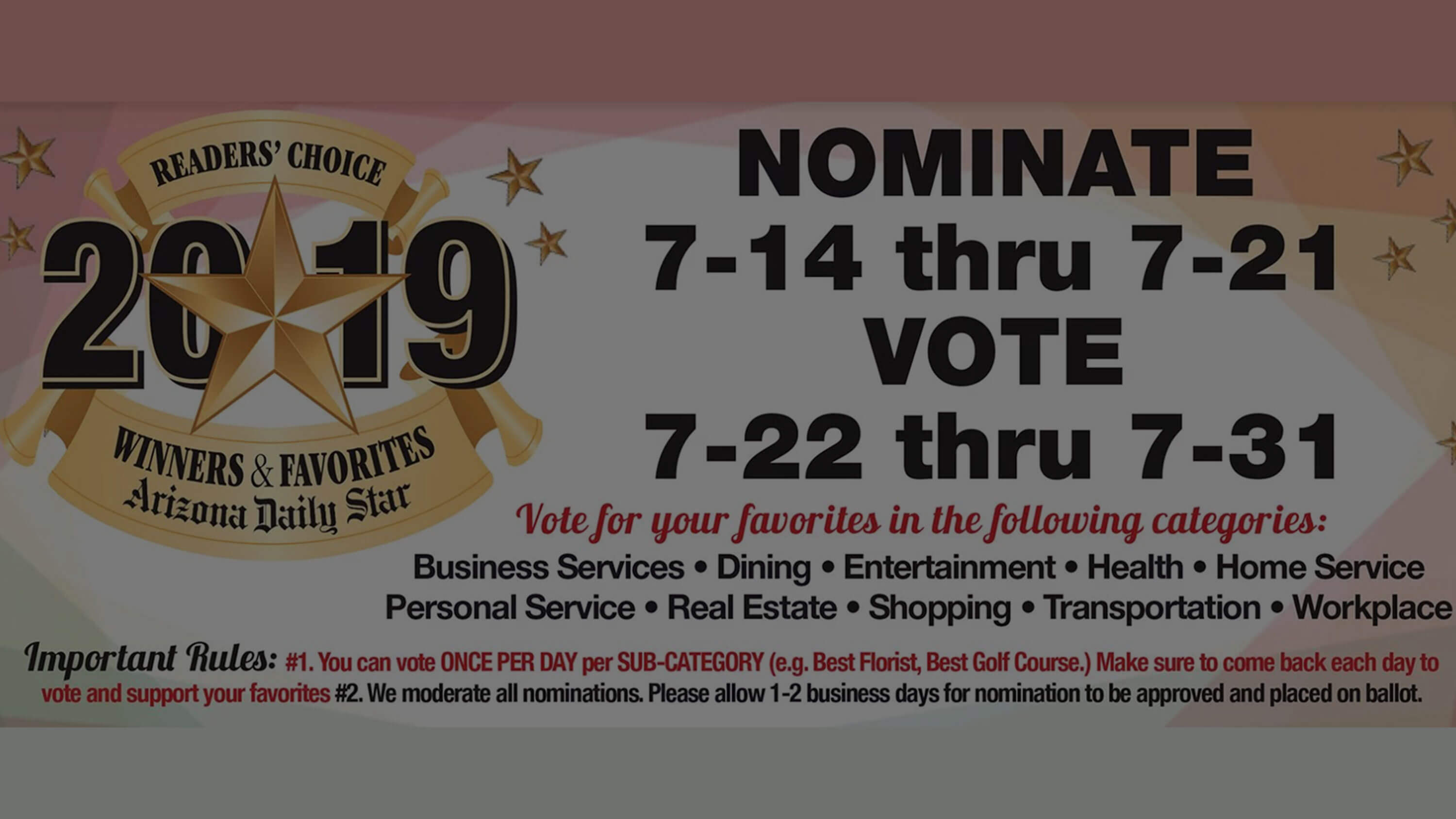 2019 Reader's Choice Award<br>Vote Today!